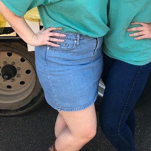 Sassy Blue Jean Skirt